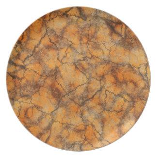 Orange marble plate