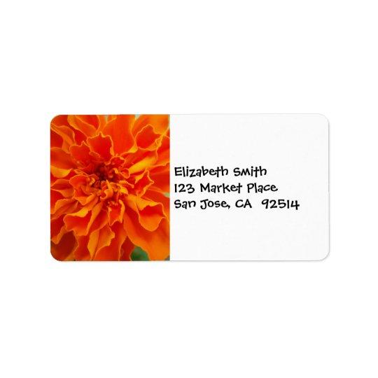 Orange Marigold Address Label