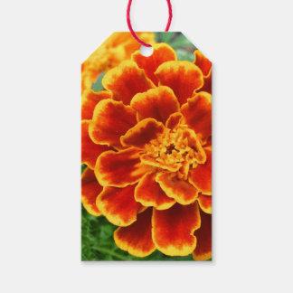 Orange Marigold Flower Custom Text