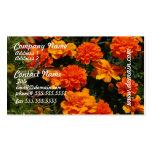 Orange Marigold Flowers Business Card
