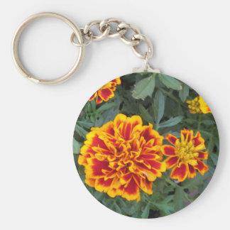 Orange Marigold Flowers Keychains
