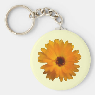 Orange Marigold Keychain