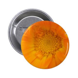 Orange Marigold Macro Button