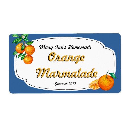 Orange Marmalade Canning Labels