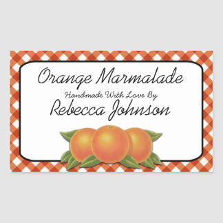 Orange Marmalade Custom Text Jar Label