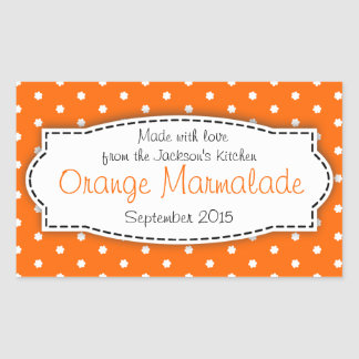 Orange Marmalade preserve jam food label sticker