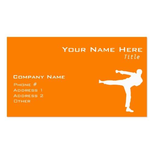 Orange Martial Arts Business Card Template