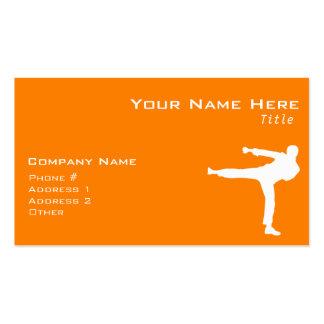 Orange Martial Arts Pack Of Standard Business Cards