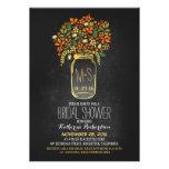 orange mason jar chalkboard bridal shower invites