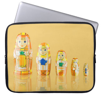 Orange Matryoshka Russian Dolls Laptop Sleeve