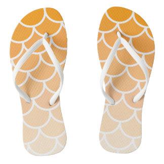 Orange Mermaid Flip Flops