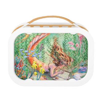 Orange Mermaid Lunch Box
