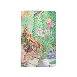 Orange Mermaid Pocket Journal Travel Notepad