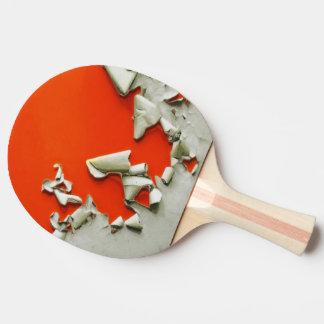 orange metal shreds ping pong paddle