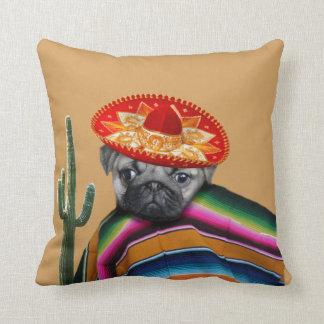 Orange Mexican pug dog Pillow