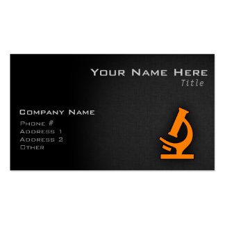 Orange Microscope Pack Of Standard Business Cards