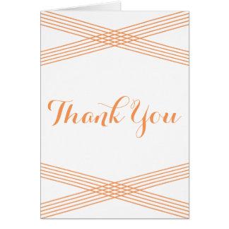 Orange Modern Deco Thank You Card Greeting Card