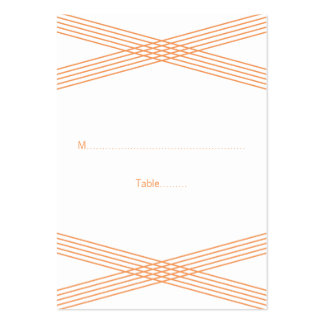 Orange Modern Deco Wedding Place Cards Large Business Cards (Pack Of 100)