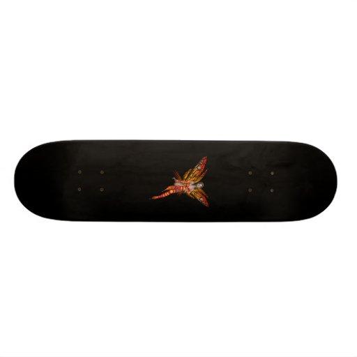 Orange Monarch Butterfly 3D Pixie - Fairy 1 Skateboard Deck