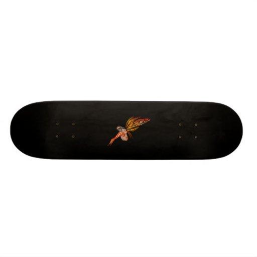 Orange Monarch Butterfly 3D Pixie - Fairy 2 Skateboard Decks