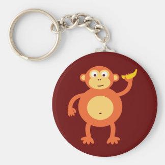 Orange Monkey Keychain