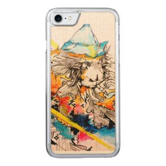 Orange monkey, watercolor animal iPhone 6 Carved iPhone 8/7 Case