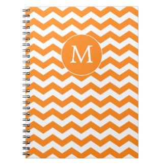 Orange Monogrammed Zigzag Notebook