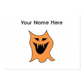 Orange Monster. Pack Of Chubby Business Cards