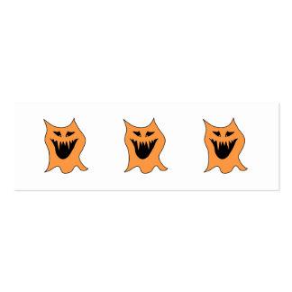 Orange Monster. Pack Of Skinny Business Cards