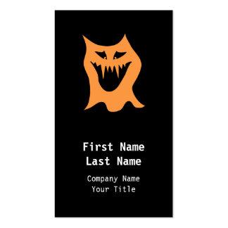 Orange Monster. Pack Of Standard Business Cards