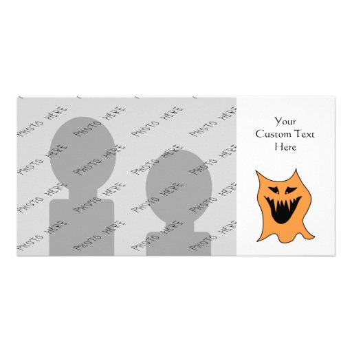 Orange Monster. Personalized Photo Card