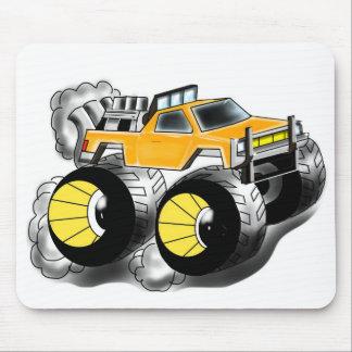Orange Monster Truck Mousepad