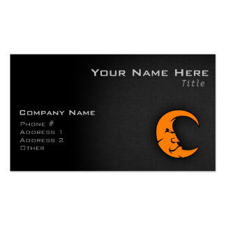 Orange Moon Pack Of Standard Business Cards