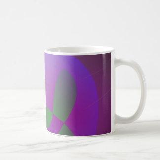 Orange Moon Purple Egg Coffee Mug