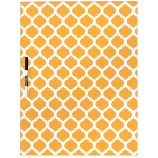 Orange Moroccan Pattern Dry Erase Board