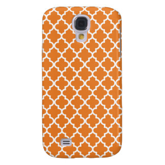 Orange Moroccan Pattern Galaxy S4 Case