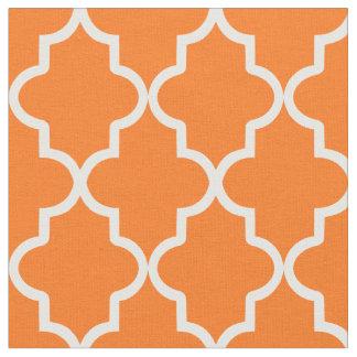 Orange Moroccan Quatrefoil Fabric