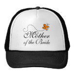 Orange Mother Of The Bride Mesh Hats