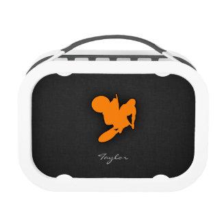 Orange Motocross Lunch Boxes