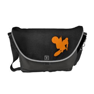 Orange Motocross Messenger Bag