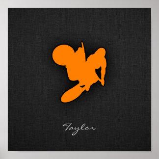 Orange Motocross Poster