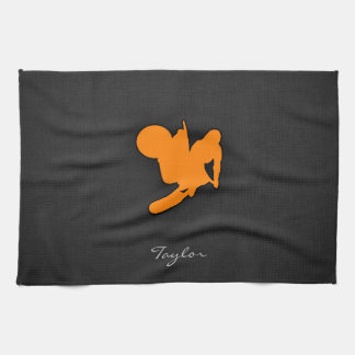 Orange Motocross Tea Towel