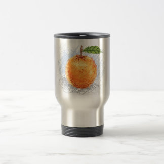 orange 15 oz stainless steel travel mug