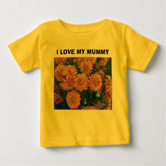 Orange Mums#2, I LOVE MY MUMMY Baby T-Shirt