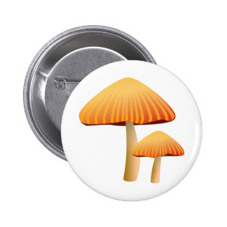 Orange Mushrooms 6 Cm Round Badge