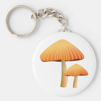 Orange Mushrooms Key Ring