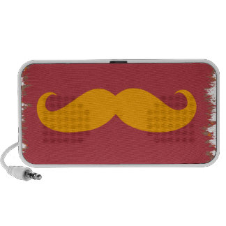 Orange Mustache Mp3 Speakers