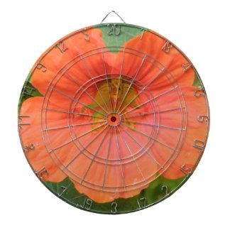 Orange Nasturtium Flower Dart Board