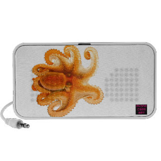 Orange Octopus Picture Laptop Speaker