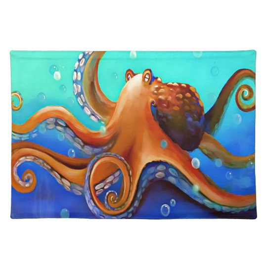 Orange Octopus Placemats